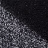 Mixed Wool Fabric with Double Sides in Black