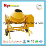 Used Portable Cement Mixer Mixing Concrete in a Cement Mixer