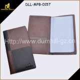 Genuine Leather Business Card Folder with 20PCS Transparent PVC Windows