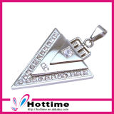 Trendy Triangle Shap 4in1 Bio Element Stone Energy Necklace
