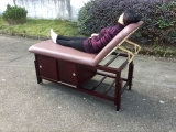 Stationary Wooden Massage Tables with Cabinet