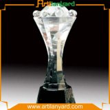 Fashion Crystal Award with Logo at One Side