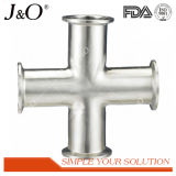 Sanitary Stainless Steel Pipe Fitting DIN Welded Equal Cross
