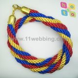 Polyester Colors Mixed Twisted Rope for Crowd Control Stanchion