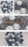 Mixty Black and White Hexagon Marble Mosaic