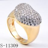 High Quality Fashion Jewelry Heart Ring with CZ