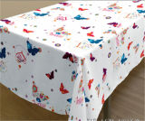 Popular Beautiful Printed PVC Tablecloth with Nonwoven Backing for Wedding in Roll