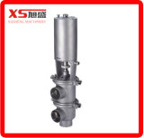 Stainless Steel Food Grade Pneumatic Flow Diverting Valve