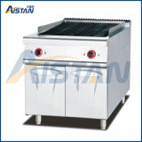 Eh889 Electric Lava Rock Grill with Cabninet of Catering Equipment