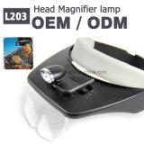 L203 Handheld Mini Headlamp Magnifying Lamp / Magnifier Light for Wholesale
