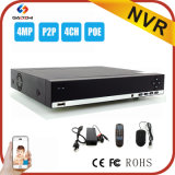 April Promotion 4CH 4MP NVR Supporting Real Time Remote Monitoring