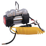 12V Auto Heavy Duty Screw Twin Head Air Compressor for Car