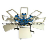 Six Color Silk Screen Printer for Garment