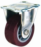 Light Duty Fixed PU Caster (Red)