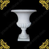 Marble Hand Carved Flower Pot for Garden Decoration