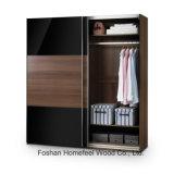 Free Standing Bedroom 2 Sliding Door Wardrobe Dresser (WB62)