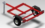 Utility Trailer with Red Power Coated (TR0400)