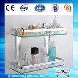 6/8/10/12mm Flat Tempered Acid Etched Reflective Glass Shelf