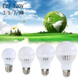 E27 5W Sound Motion Sensor Light Control 5730 SMD LED Lamp Bulb White 220V