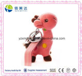 Cute Pink Giraffe Plush Toy Key Chain