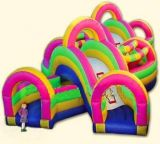 Pink Configuration Inflatable Obstacle Course (CQW-092)