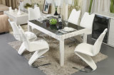 New Modern Square Glass Dining Table Chair Dining Furniture Factory (NK-DT082)