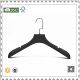 High Grade Black Plastic Coat Hangers, Suit Hanger for Clothes