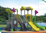 2015 Hot Selling Outdoor Playground Slide with GS and TUV Certificate (QQ14021-1)