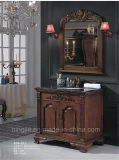 Sanitary Ware Solid Wooden Furinture Bathroom Cabinet (ADS-611)