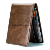 Ultra Slim Mini Bifold Leather Wallet ID Window Card Case