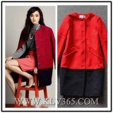 Hot Sale Fashion Winter Warm Women′s Woolen Coat