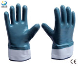 Cotton Jersey Shell Full Coated Nitrile Coated Safety Work Gloves (N6001)