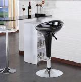 Modern Enhanced ABS Bombo Club Style Swivel Barstool Black