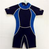 Short Neoprene Surfing Wetsuit with Nylon Fabric (HX15S58)