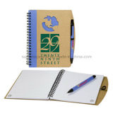 Customized A5 Kraft Paper Spiral Notebooks with Pen