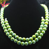 Green Color Germanium and Tourmaline Health Care Anion Necklace Set