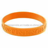 Cheap Promotional Customized Silicone Bracelet Wristband with Embossed Logo