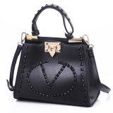 Newest Designer Classic Black PU Leather Handbag for Lady