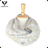 2016 New Design Multicolor Space Dyed Yarn Knitting Neck Scarf Types