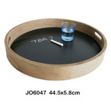 New Funtional Wooden Plate with Chalkboard