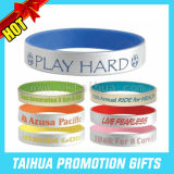Cheap Custom Silicone Bracelets Spray Paint Wristband (TH-band044)