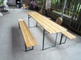 Outdoor Wooden Beer Table and Benches