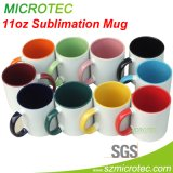 11oz Sublimation Inner & Handle Color Coated Ceramic Coffee Mug (MT-B002H)