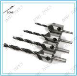 4PCS HSS 5 Flute Countersink Drill Bit Set