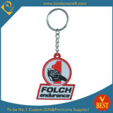 Promotional Customized Logo Die Casting PVC Key Ring for Advertising Gifts From China