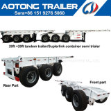 Madagascar 20-40FT Tandem Trailer Interlink Container Chassis Semi Trailer