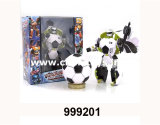 Educational Plastic Ball Transformable Robot Toy for Boy (999201)
