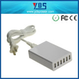 White 6 USB Phone Charger with 5V 2.1A Per USB