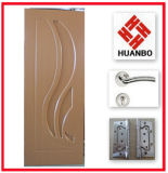 Hot Sale Wooden MDF Interior PVC Door (HB-002)