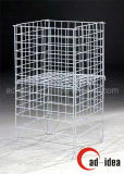 Wall Mountable Mesh Wire Grids Display/Gridwall Rolling Rack